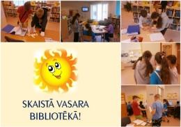 """Lasītveicināšanas akcija """"Skaistā vasara bibliotēkā"""": jūnijs"""