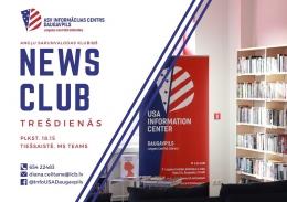 "Angļu valodas sarunvalodas klubiņš ""News Club"" gaida jaunus sarunu biedrus"