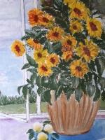 """Bibliotēkā skatāma Marijas Safronovas izstāde """"Latgale mākslinieka acīm"""""""