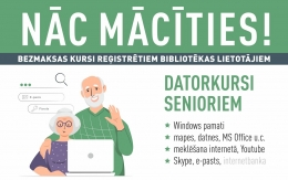Bibliotēkā atkal būs pieejami datorkursi senioriem