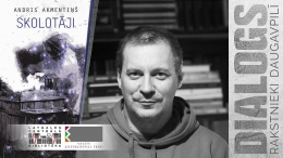 """Romāna """"Skolotāji"""" autors Andris Akmentiņš Daugavpilī"""