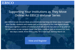 EBSCO vebināri bibliotekāriem