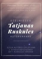 Radošā tikšanās ar dzejnieci Tatjanu Ruskuli