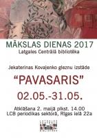 Jekaterinas Kovaļenko gleznu izstāde LCB periodikas sektorā