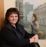 Mākslinieces Jeļenas Nosovas personālizstāde Latgales Centrālajā bibliotēkā