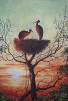 Романтический реализм Петра Лавренова на выставке в библиотеке