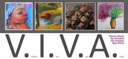 Выставка картин четырех художниц в Латгальской Центральной библиотеке