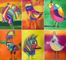 "3. vidusskolas skolēnu radošo darbu izstāde ""Speaking art"""