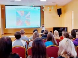 Daugavpils jaunieši izglītojās medijpratības jautājumos, tiekoties ar eksperti no ASV