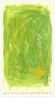 """Agras Ritiņas gleznu personālizstāde """"Pļava"""" Latgales Centrālajā bibliotēkā"""