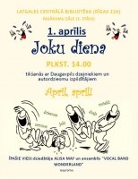 День смеха в Латгальсклой Центральной библиотеке
