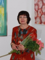 Mākslinieces Aleksandras Šļahovas akvareļi Latgales Centrālajā bibliotēkā
