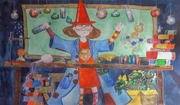 Mācību process bērnu zīmējumos – 9. vidusskolas audzēkņu radošo darbu izstāde bibliotēkā