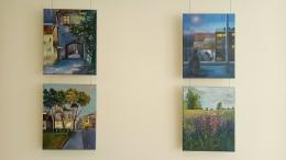 """Žannas Orlovas izstāde """"Manas dvēseles krāsu ceļš"""" Jaunbūves bibliotēkā"""