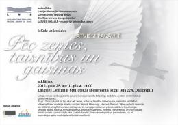 В Латгальской Центральной библиотеке передвижная выставка Латвийской Национальной библиотеки
