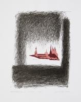 """Daugavpils Marka Rotko mākslas centra grafikas kolekcijas izstāde """"Pilsēta. Daugavpils"""" Latgales Centrālajā bibliotēkā"""
