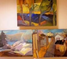 Выставка картин Даце Абрицкой в библиотеке «Гайсмас»