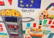 """Konkursa """"Eiropa skolā"""" radošo darbu izstāde uzsākusi ceļojumu pa Latvijas reģioniem"""