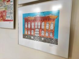 """Bibliotēkā skatāma Bērnu mākslas skolas izstāde """"Daugavpils: aiz, virs, ap, zem, pirms…"""""""