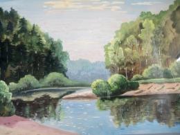 Персональная выставка картин Василия Горюнова в Латгальской Центральной библиотеке