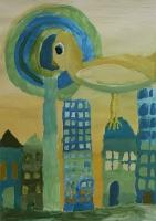 """Bērnu mākslas skolas plenēra izstāde """"Laba daba pilsētā"""" Latgales Centrālajā bibliotēkā"""