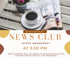 """Angļu valodas sarunvalodas klubiņš """"News Club"""" atsāk sezonu"""