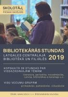 Bibliotekāro stundu piedāvājums Daugavpils publiskajās bibliotēkās