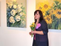 Выставка картин Даце Абрицкой в библиотеке Gaismas