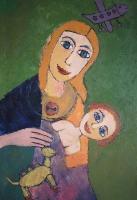 Персональная выставка Ларисы Щукиной в библиотеке