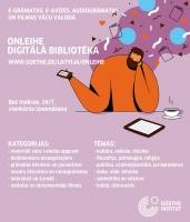 Aicinām izmantot digitālo bibliotēku Onleihe vācu valodā