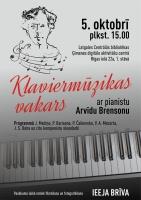 Klaviermūzikas vakars bibliotēkā