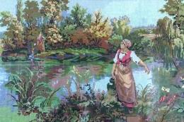 """Tamāras Dorofejevas izšūto gleznu izstāde """"Pavasara motīvi"""""""