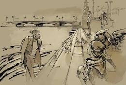Bibliotēkā skatāma Anastasijas Kuļgajevas zīmējumu izstāde