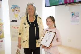 Открытие передвижной выставки плакатов и награждение участников детского конкурса рисунков в библиотеке