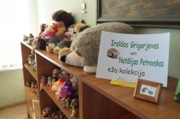 Iraīdas Grigorjevas un Natālijas Petrovskas ežu kolekcija Latgales Centrālajā bibliotēkā