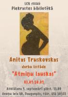 Anitas Truskovskas radošo darbu izstāde Piekrastes bibliotēkā